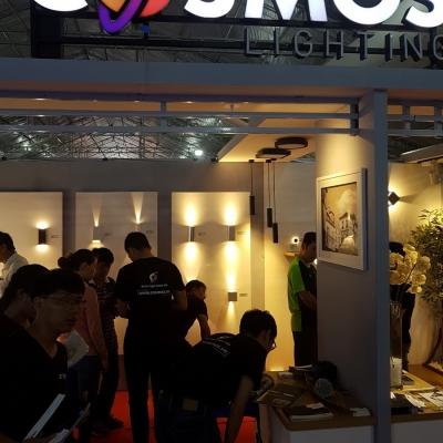 Cosmos Lighting tại triễn lãm Viet Build tháng 6-2018